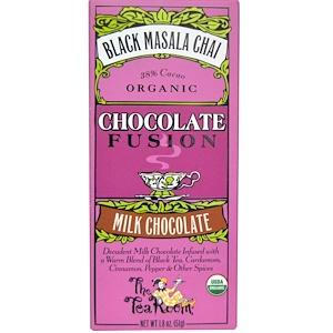 The Tea Room, Шоколадный напиток Chocolate Fusion с молочным шоколадом и черным чаем масала со специями, 1.8 унций (51 г)