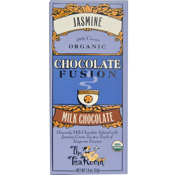 The Tea Room, Chocolate Fusion, Milk Chocolate, Jasmine, 1.8 oz (51 g)