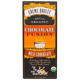 The Tea Room, Creme Brulee, Organic Chocolate Fusion, Milk Chocolate, 1.8 oz (51 g)