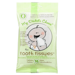 Тут Тишьюс, My Dentist's Choice, Dental Wipes for Baby and Toddler Smiles, 30 Wipes отзывы покупателей