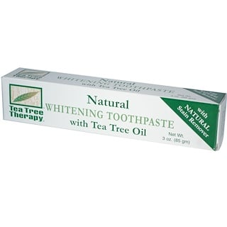 Tea Tree Therapy, Natural Whitening Toothpaste, with Tea Tree Oil, 3 oz (85 g)