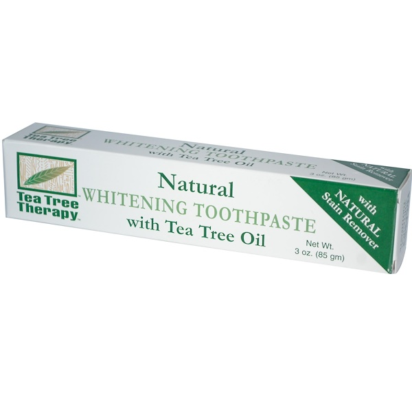 Tea Tree Therapy, Natural Whitening Toothpaste, with Tea Tree Oil, 3 oz (85 g) (Discontinued Item)