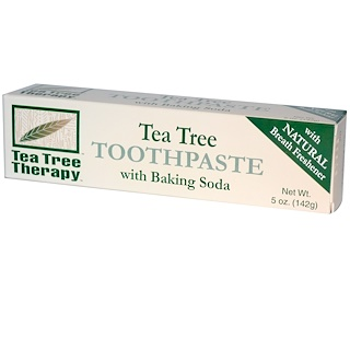 Tea Tree Therapy, Tea Tree Toothpaste, with Baking Soda, 5 oz (142 g)