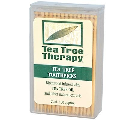 Зубочистки Tea Tree TherapyToothpicks, мятные, примерно 100 штук