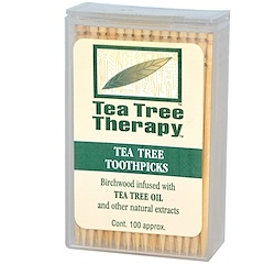 Tea Tree Therapy, Tea Tree TherapyToothpicks, Mint, 100 Approx.