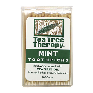 Ти Три Терапи, Tea Tree TherapyToothpicks, Mint, 100 Approx. отзывы покупателей