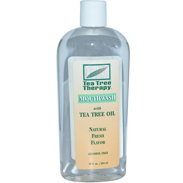 Tea Tree Therapy, 茶樹油漱口水,12盎司(354ml)