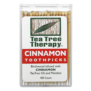 Tea Tree Therapy, أعواد أسنان بالقرفة، 100 تقريبياً