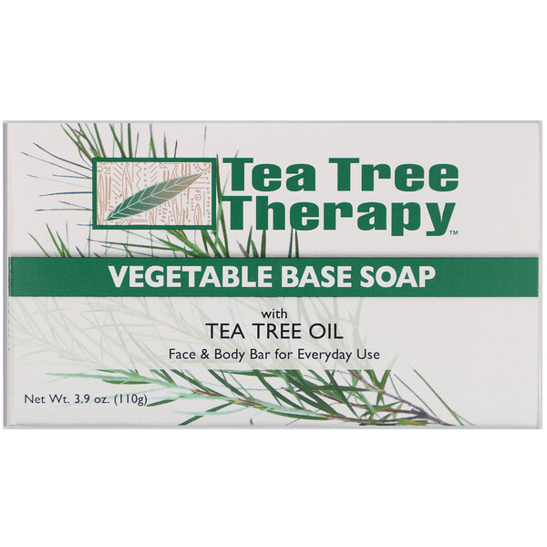 Tea Tree Therapy, Vegetable Base Soap with Tea Tree Oil, 3.9 oz (110 g)