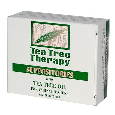 Tea Tree Therapy Свечи, с маслом чайного дерева, для гигиены влагалища, 6 свечей