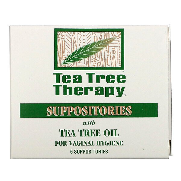 Suppositories with Tea Tree Oil for Vaginal Hygiene, 6 Suppositories