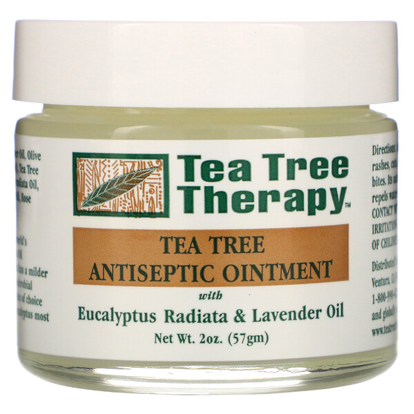 Tea Tree Therapy, Pomada antiséptica de árbol del té, 2 oz (57 g)