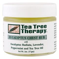 Tea Tree Therapy, كينا لتدليك الصدر، 2 أونصة (57 جم)