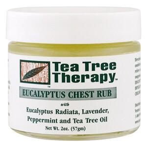 Ти Три Терапи, Eucalyptus Chest Rub, 2 oz (57 g) отзывы покупателей