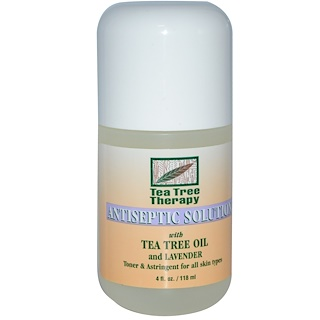 Tea Tree Therapy, Antiseptic Solution, With Tea Tree Oil and Lavender, 4 fl oz (118 ml)