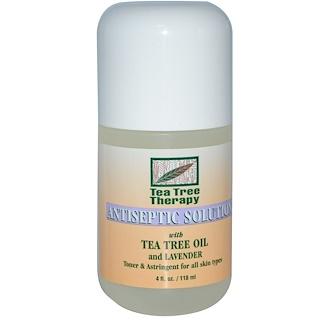 Tea Tree Therapy, Антисептический раствор с маслом чайного дерева и лавандой, 118 мл