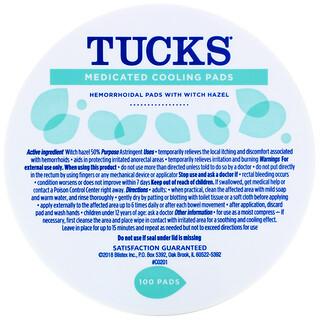 Tucks, 醫學退燒貼,100 貼