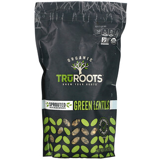 TruRoots, Organic, Sprouted Green Lentils, 10 oz (283 g)
