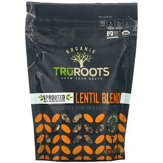 TruRoots, Organic, Sprouted Lentil Blend, 8 oz (227 g)