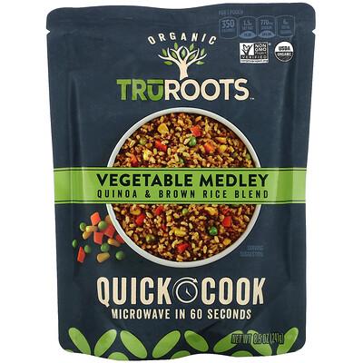 Купить TruRoots Organic, Vegetable Medley, Quinoa & Brown Rice Blend, 8.5 oz (241 g)