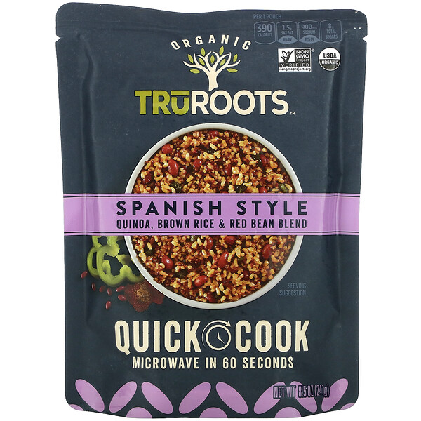 Organic, Quinoa, Brown Rice & Red Bean Blend, Spanish Style, 8.5 oz (241 g)