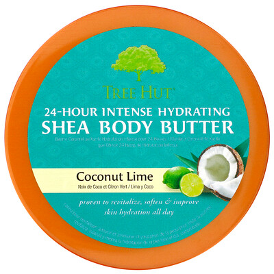 Купить Tree Hut масло ши для интенсивного увлажнения тела в течение 24 часов, кокос и лайм, 198г (7унций)