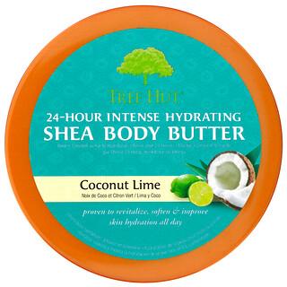 Tree Hut, масло ши для интенсивного увлажнения тела в течение 24 часов, кокос и лайм, 198г (7унций)
