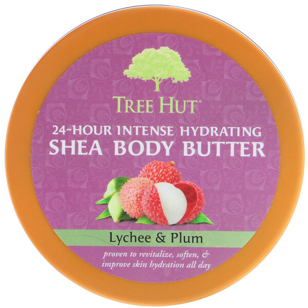Tree Hut, 24 Hour Intense Hydrating Shea Body Butter, Lychee & Plum, 7 oz (198 g) (Discontinued Item)