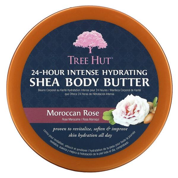 Tree Hut, Manteca de karité con 24 horas de hidratación intensa para el cuerpo, rosa marroquí, 7 oz (198 g)