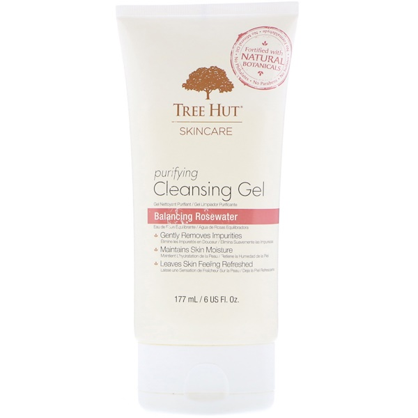Tree Hut, Skincare, Purifying Cleansing Gel, Balancing Rosewater, 6 fl oz (177 ml) (Discontinued Item)