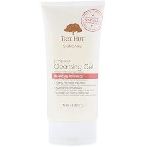 Tree Hut, Skincare, Purifying Cleansing Gel, Balancing Rosewater, 6 fl oz (177 ml) отзывы