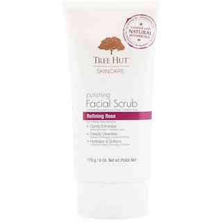 Tree Hut, Skincare, Polishing Facial Scrub, Refining Rose, 6 oz (170 g)