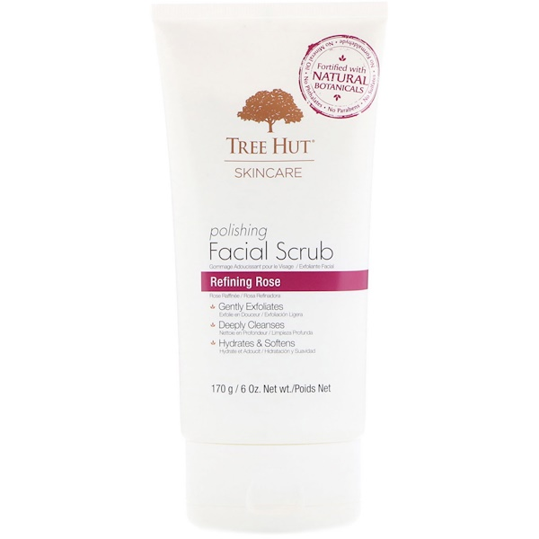 Skincare, Polishing Facial Scrub, Refining Rose, 6 oz (170 g)