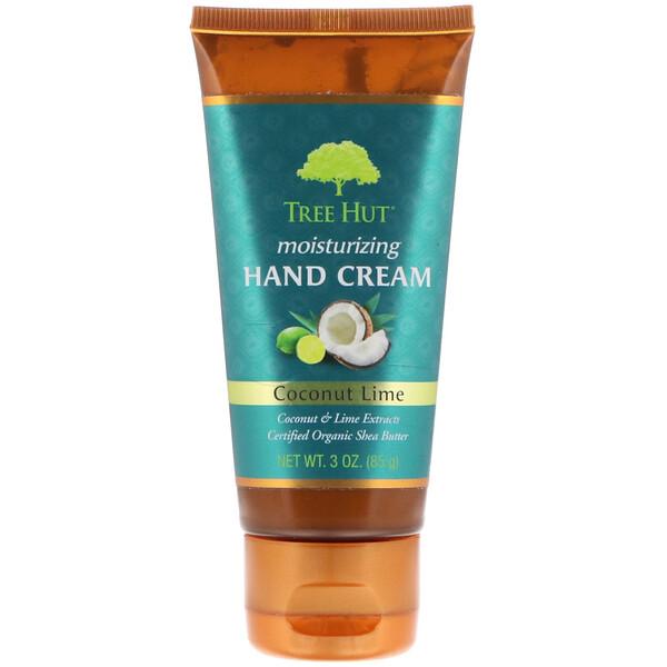 Crema hidratante para manos, coco y lima, 3 oz (85 g)