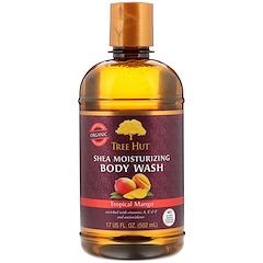 Tree Hut, 乳木果保濕沐浴露,熱帶芒果,17 盎司(502 毫升)