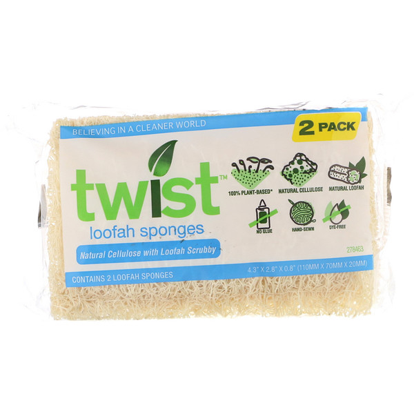 Twist, Loofah Sponges, 2 Pack