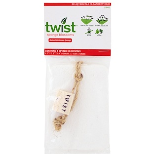 Twist, Sponge Blossoms, 4 Pack