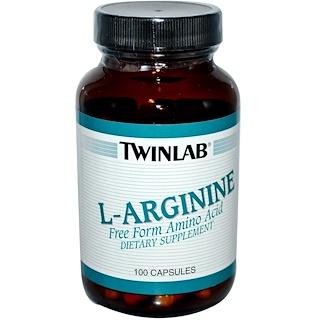 Twinlab, L-Arginine, 100 Capsules