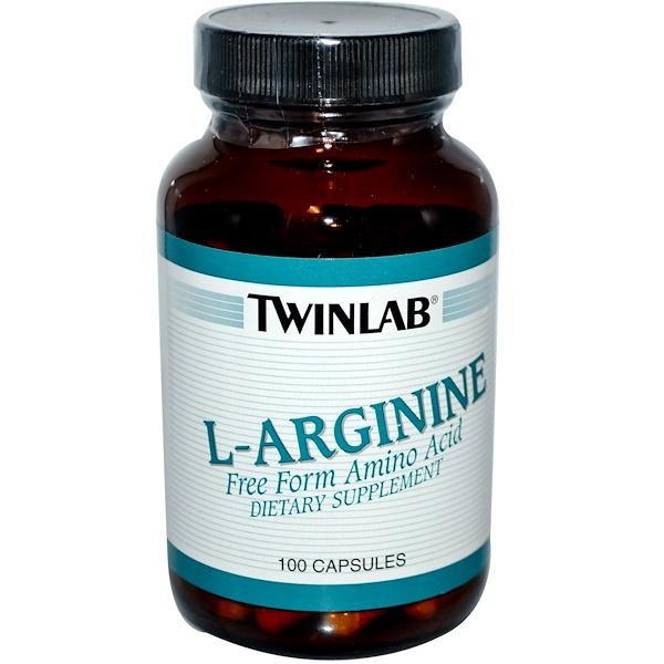 Twinlab, L-アルギニン, 100カプセル