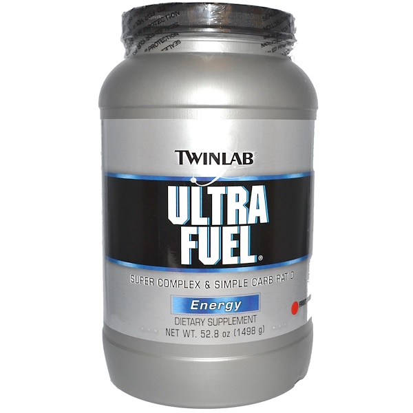 Twinlab, Ultra Fuel, Super Complex & Simple Carb Ratio, Energy, Fruit Punch, 52.8 oz (1498 g) (Discontinued Item)