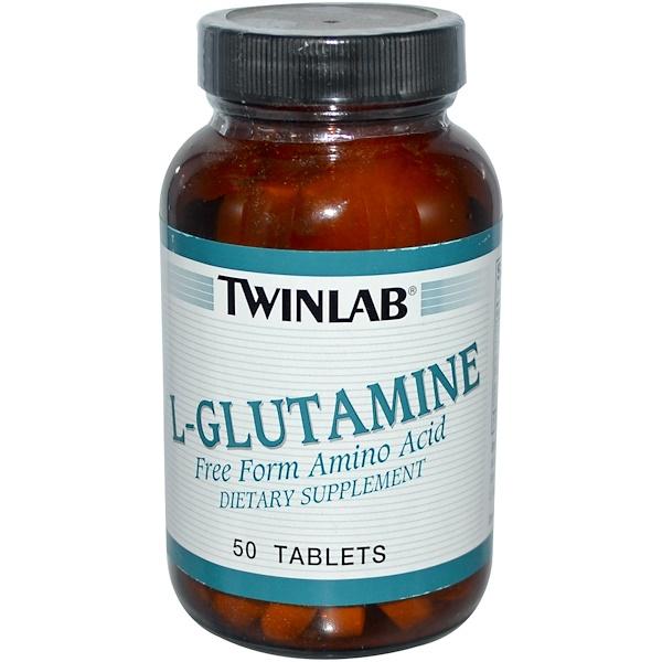 Twinlab, L-Glutamine, 50 Tablets (Discontinued Item)