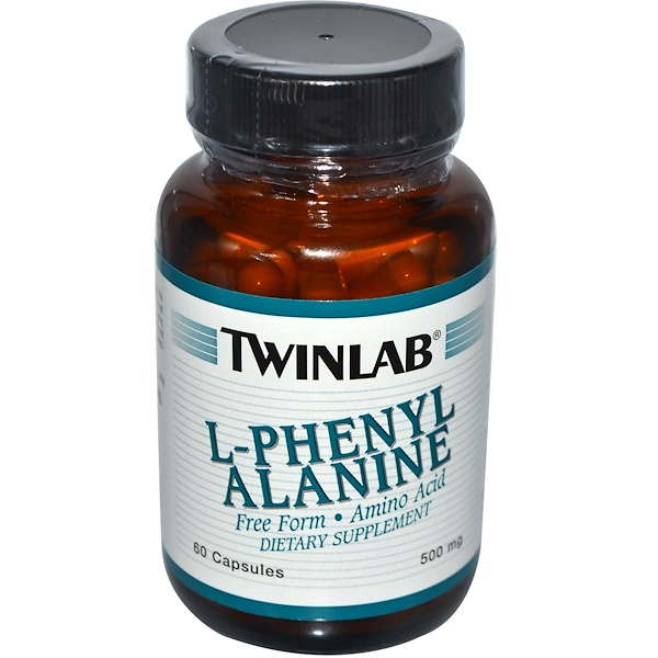 Twinlab, L-Phenylalanine, 500 mg, 60 Capsules (Discontinued Item)