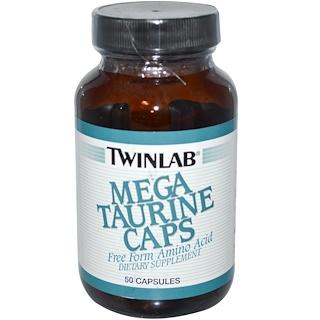 Twinlab, Таурин мега, 50 капсул