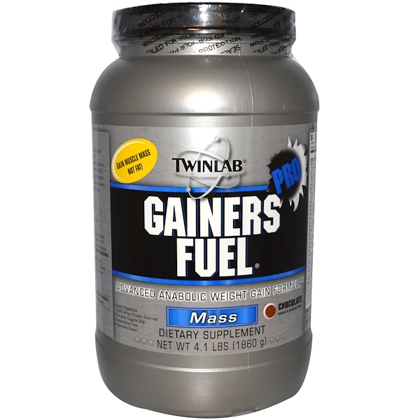 Twinlab, Gainers Fuel Pro, Mass, Chocolate, 4.1 lbs (1860 g) (Discontinued Item)
