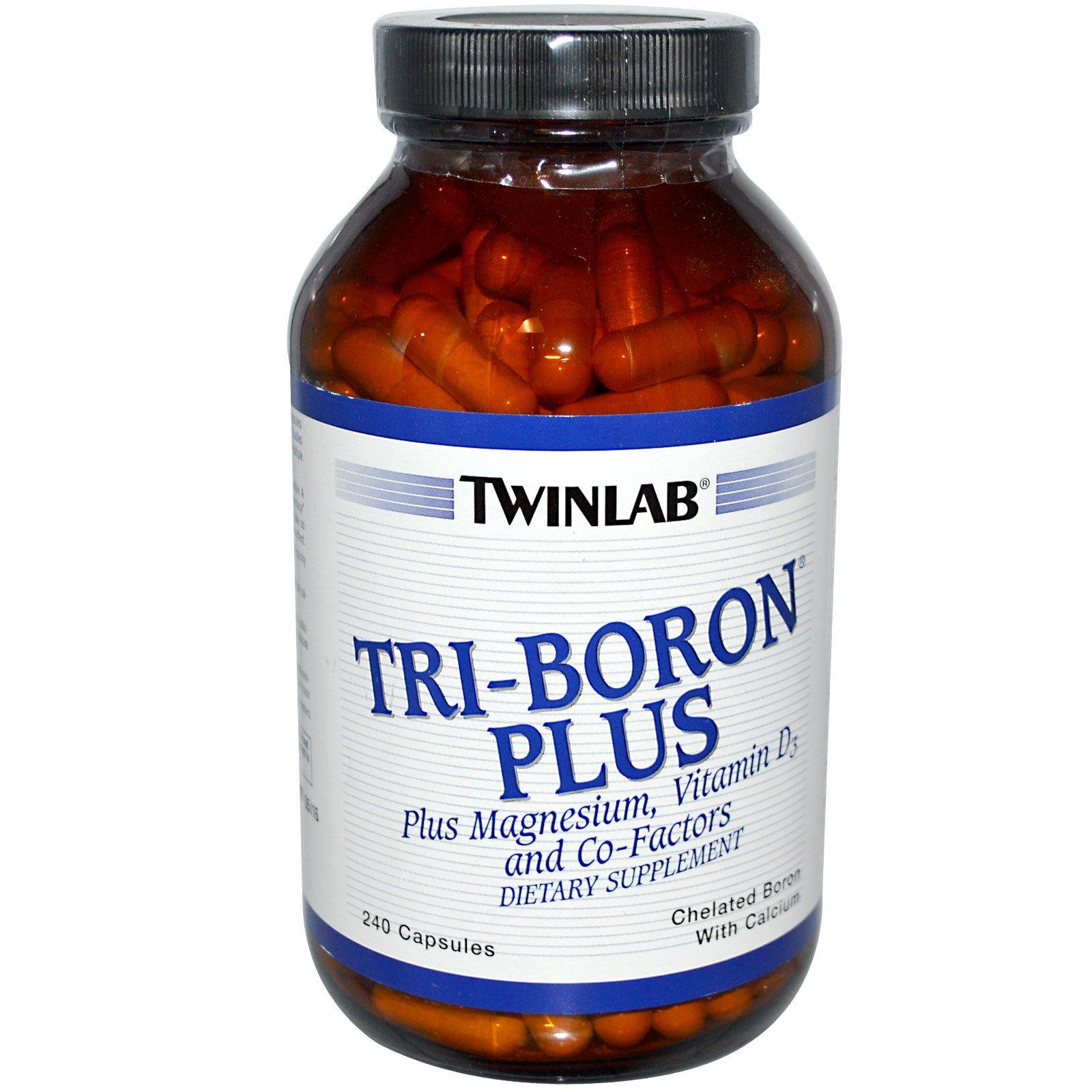 Twinlab, Тройной бор плюс, 240 капсулы