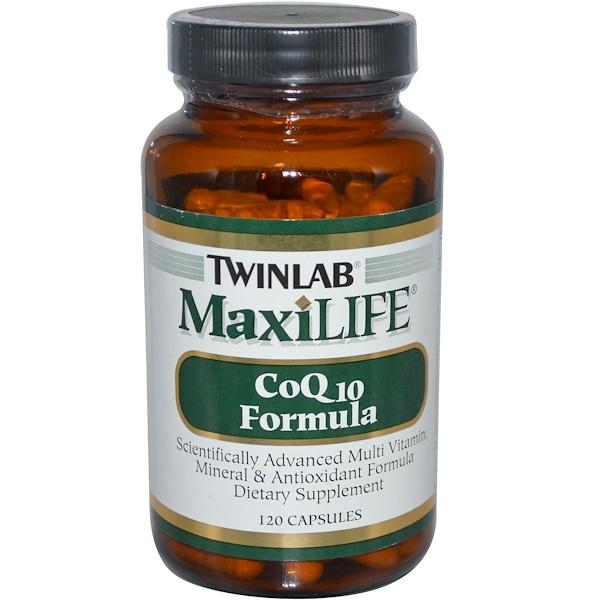 Twinlab, MaxiLife, CoQ10 Formula, 120 Capsules (Discontinued Item)