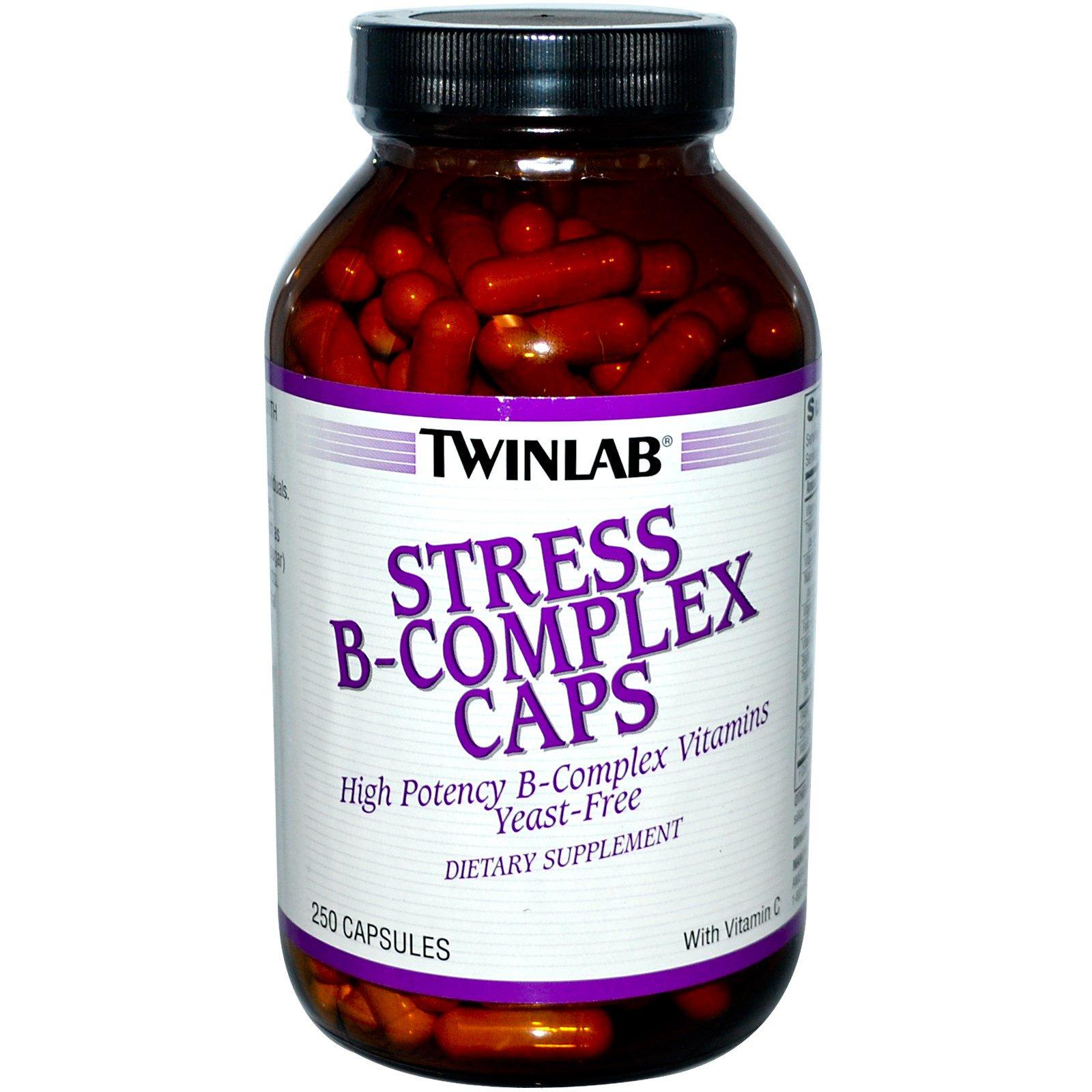 Twinlab, Капсулы с витаминами группы B против стресса, 250 капсул
