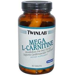 Twinlab, Mega L-Carnitine, 90 Tablets