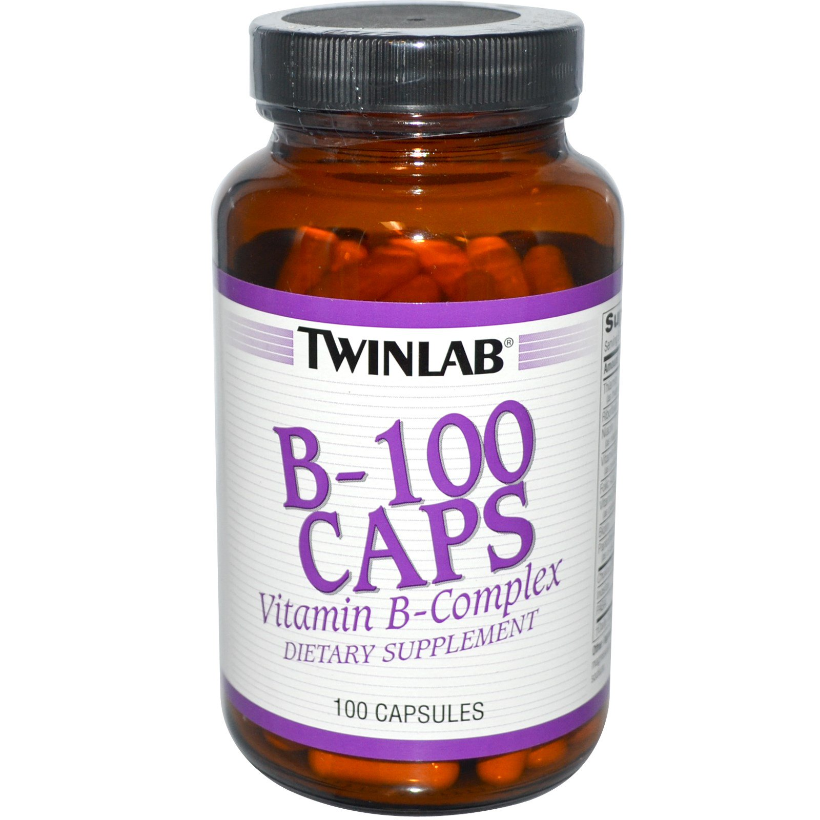Twinlab, Капсулы B-100, 100 капсул