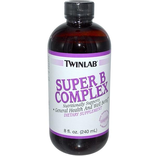 Twinlab, Super B Complex, Regular, 8 fl oz (240 ml) (Discontinued Item)